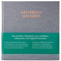 Gästebuch mit Ausfüllseiten Sophie Silbergrau