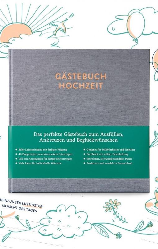 Hochzeitsgästebuch Sophie Titelseite und Banderole