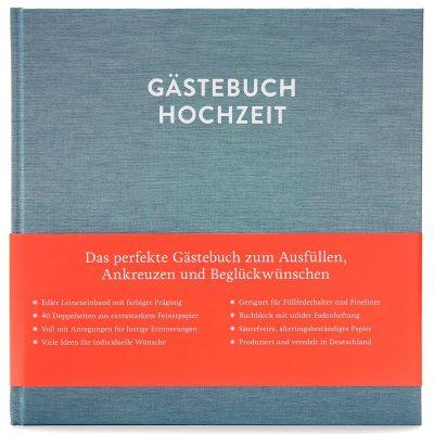 Hochzeitsgästebuch mit Ausfüllseiten Sophie Kobalttürkis