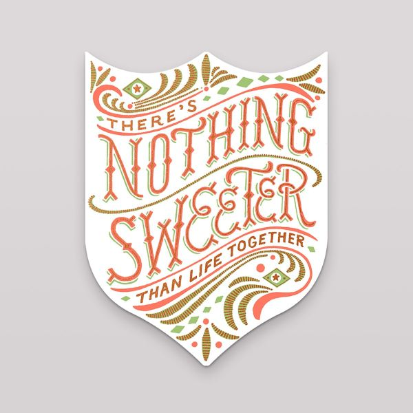 Hammerpress Grußkarte Nothing Sweeter Badge