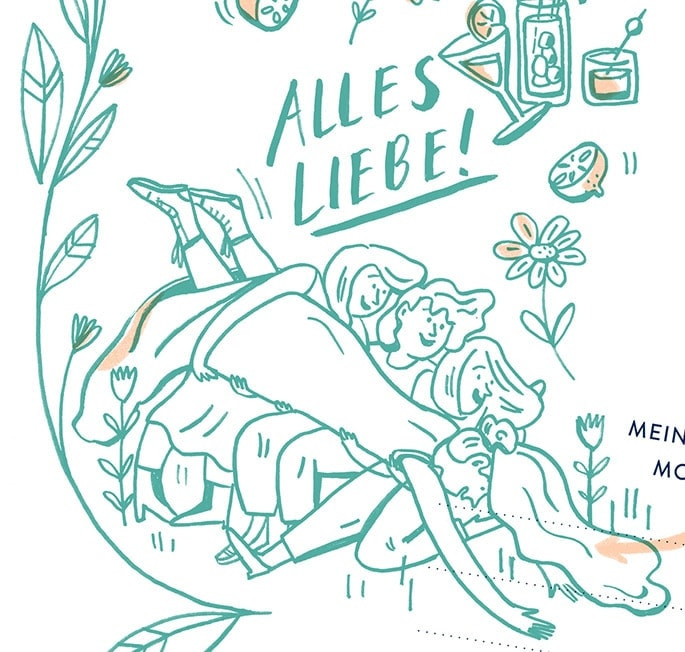 Illustration alles liebe