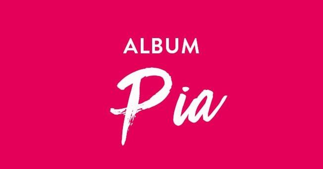 Schriftzug »Album Hochzeit Pia«