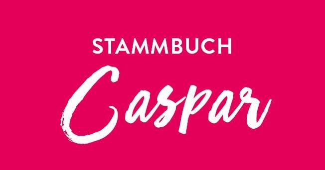 Stammbuch A4 Caspar