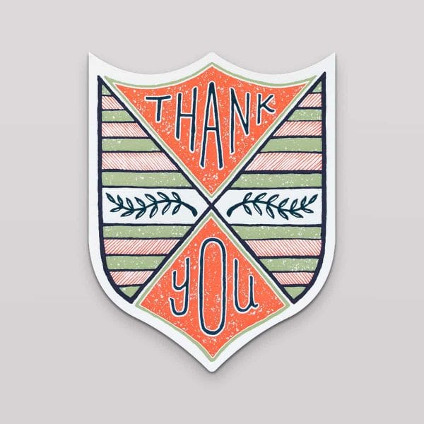Hammerpress Grußkarte Thank You Laurel Badge