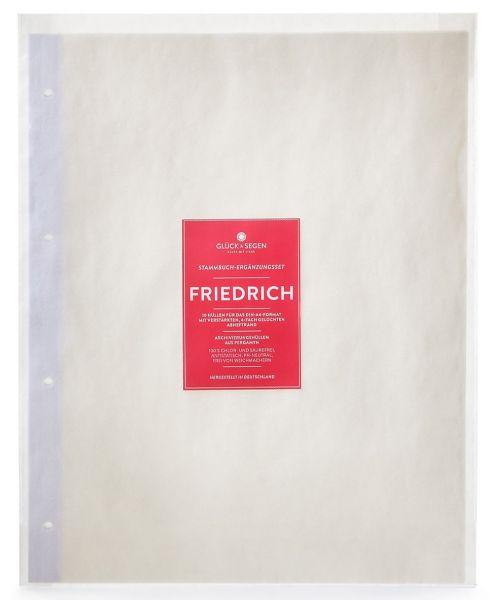 A4 Stammbuchhülle Friedrich mit Verpackung