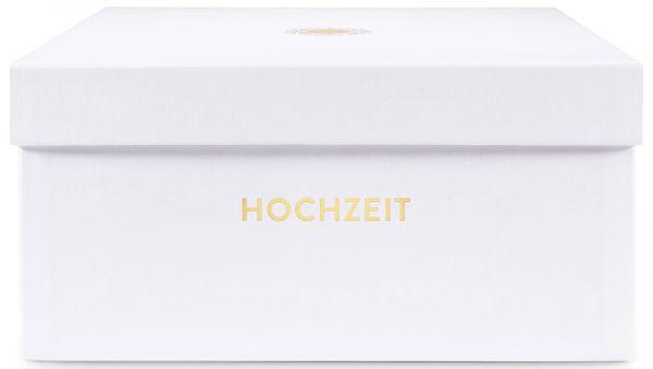 Erinnerungsbox Hochzeit Opalweiß Prägung »Nachwuchs«
