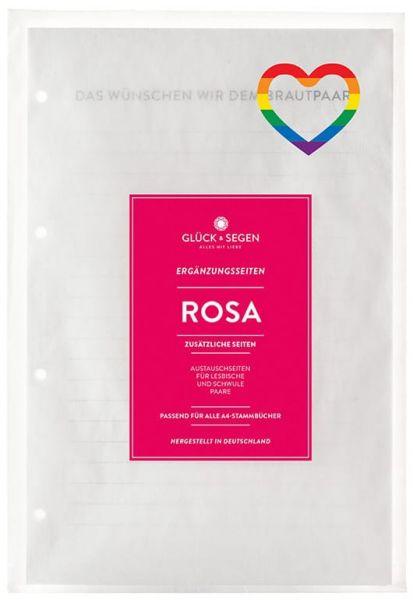 Das schwul/lesbische Umrüstset für Stammbücher A4 Rosa