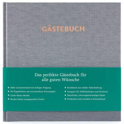 Hochzeitsgästebuch Hugo Silbergrau