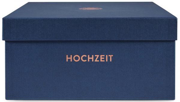 Erinnerungsbox Hochzeit Nachtblau Prägung »Nachwuchs«