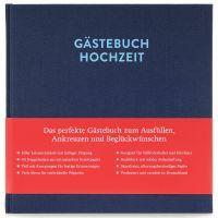 Gästebuch mit Ausfüllseiten Sophie Nachtblau