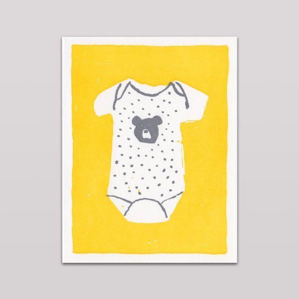 Hammerpress Grußkarte Baby Bear Onesie
