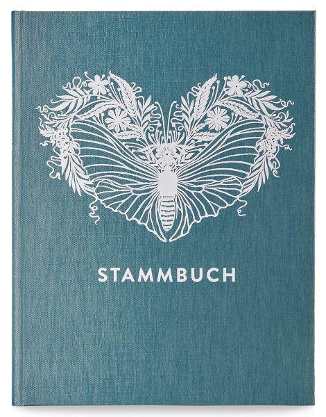 Stammbuch A5 Greta Kobalttürkis Prägung Nachtfalter