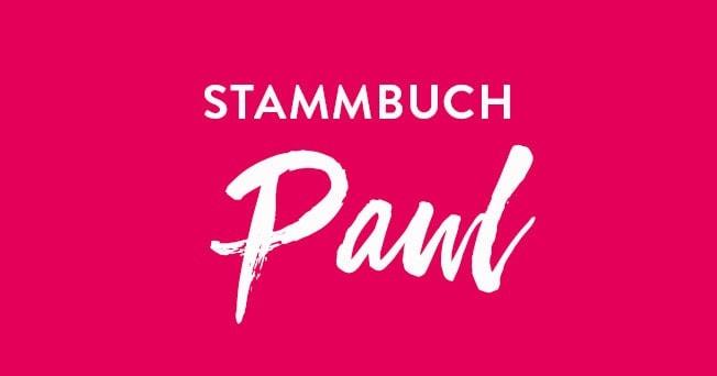 Schriftzug »Stammbuch Paul«