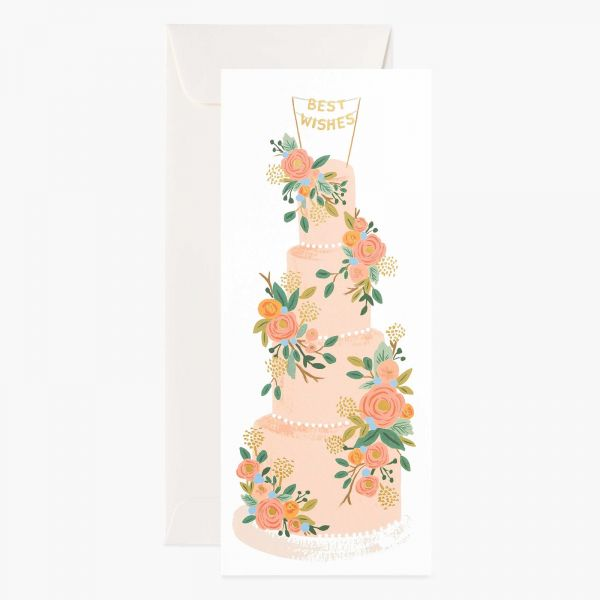 Rifle Paper Grußkarte Tall Wedding Cake Long Card